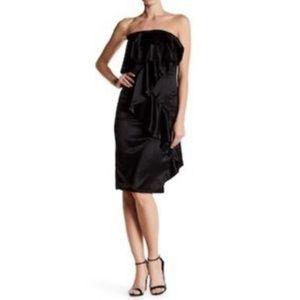 Do & Be ruffled strapless satin mini dress NWT